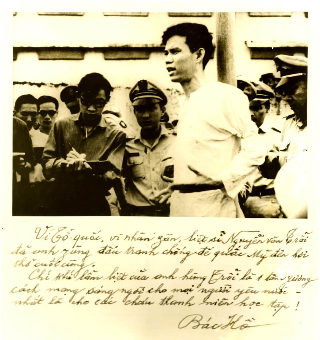 Bút tích Bác Hồ viết về anh Nguyễn Văn Trỗi Sống như anh reviewsachonly